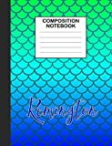 Remington Composition Notebook: Wide Ruled Composition Notebook Mermaid Scale for Girls Teens...