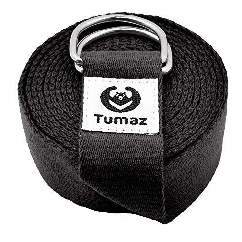 Tumaz Yoga Gurt/Yoga Strap [15+ Farben, 180/240/300 cm] mit Extra...