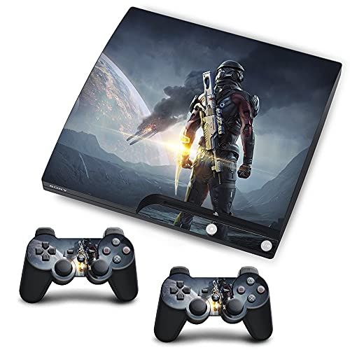 VINILOL Vinilo Mass Effect para Playstation 3 Slim pegatina cubierta Mass Effect skin para consola y 2 mandos