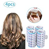 Rouleaux à cheveux avec clip à ressort en plastique pour cheveux courts et longs