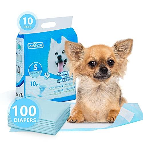 Nobleza 100 x Empapadores Perros, Alfombras de Entrenamiento con Adhesivo para Mascotas, Toallitas de Adiestramiento Cachorros,60 x 40 cm, 100 Unidades