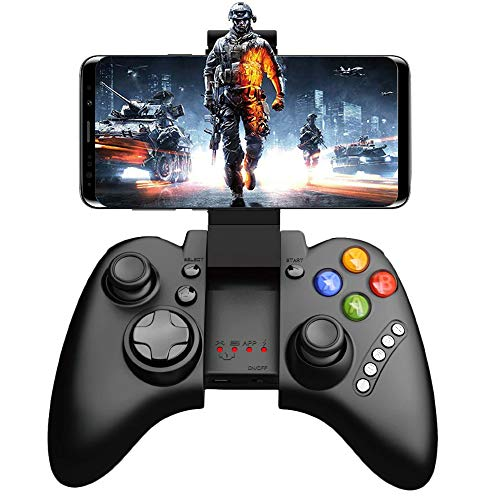 IPEGA PG-9021 Mobile Game Controller, Wireless Multimedia Controller Gamepad Joystick Supports Android 3.2 Above System/Windows PC (Black)