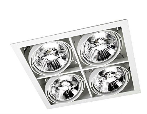 LEDs-C4 DM 0064-14-00-Encastrement multidir 4xg53 100w Blanc laqué