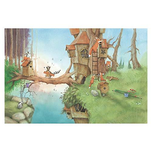 Vliestapete, Vasily und die Fuchs-Familie, Wandbild, breit