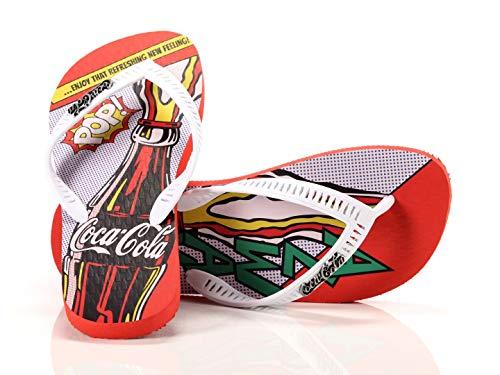 Coca Cola Shoes Tongs pour homme Rouge 41/42
