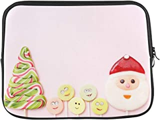 """Design Custom Lollipops New Year Sweets Candy Christmas Sleeve Soft Laptop Case Bag Pouch Skin for MacBook Air 11""""(2 Sides)"""