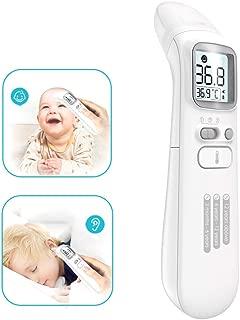 Erwachsene CE//RoHS//FDA Gepr/üft Kinder Fieberthermometer Stirnthermometer Ohrthermometer Hospaop Digitales Infrarot thermometer mit 4 in 1 Multifunktion und Tricolor Alarm f/ür Babys