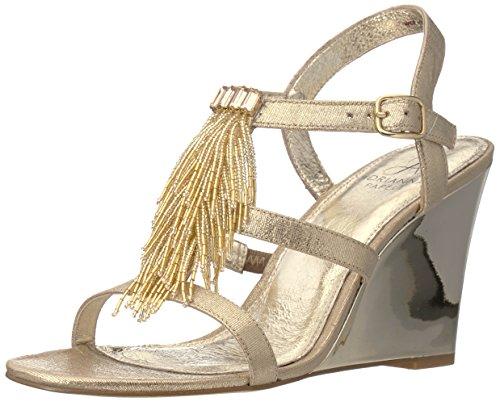 Adrianna Papell Women's Adair Wedge Sandal, Gold, 8.5 M US