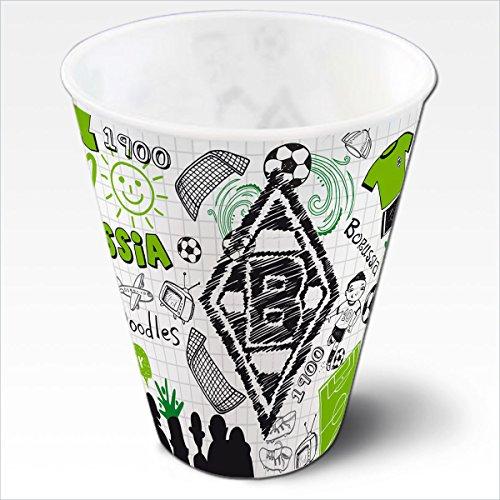 BMG / Borussia Mönchengladbach 3D Plastikbecher Kritzel 2er Set