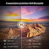 Zoom IMG-1 videoproiettore wifi bluetooth 8000 lumen