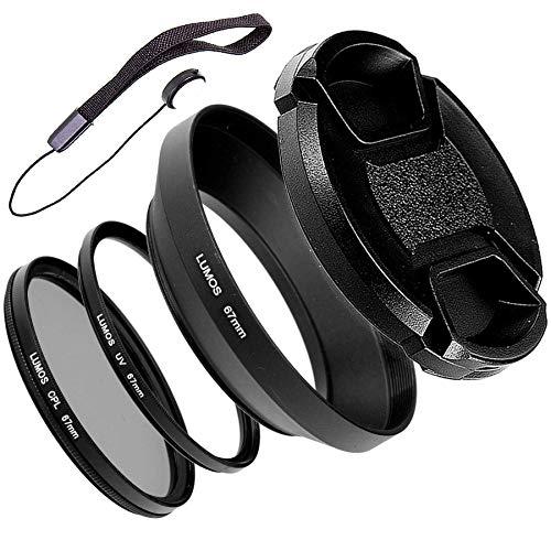 Lumos Set di accessori 67 mm, paraluce in metallo CPL, filtro polarizzatore UV, per Nikon Coolpix P900 o Nikkor 18-105 e 18-140 mm VR