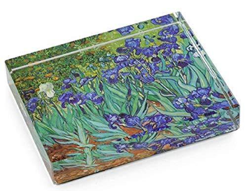 Irises by Vincent Van Gogh DeskPop Crystal Paperweight