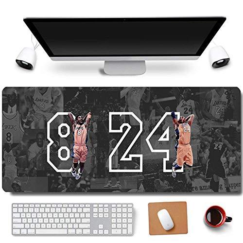 Mamba Kobe - Alfombrilla de ratón para ordenador (80 x 30 cm), color negro, goma, 8-dunk 8&24, XL