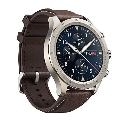 Zepp Z Reloj Inteligente Smartwatch Fitness Diseño Clásico, Duración de Batería 15 días, Asistentes de Voz, Medición de Nivel de SpO2 y Monitoreo de Frecuencia Cardíaca, Sueño y Estrés, Android e IOS