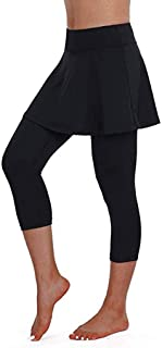 Women's Casual Skirt Leggings Tennis Sports Fitness Cropped Culottes Pants