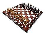 Prime Chess AMBASSADOR Cherry Madera Juego de ajedrez 54cm/21 Pulgadas Grande MÁXIMA CALIDAD