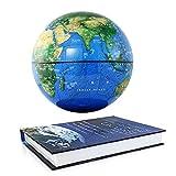 JNMDLAKO Living Equipment Globos para niños Globo Flotante con Base de Libro Levitación magnética Globo terráqueo Flotante Mapa del Mundo para el hogar Oficina Decoración de Escritorio Adorno E