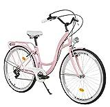 Milord. 26 Zoll 7-Gang Rosa Komfort Fahrrad...