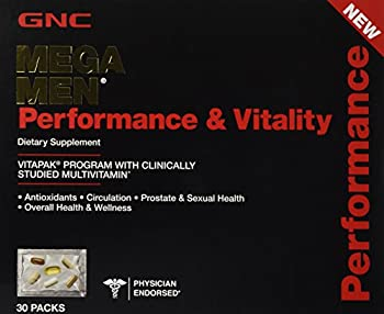 GNC MEGA MEN Performance and Vitality 30 Packs NEW and IMPROVED