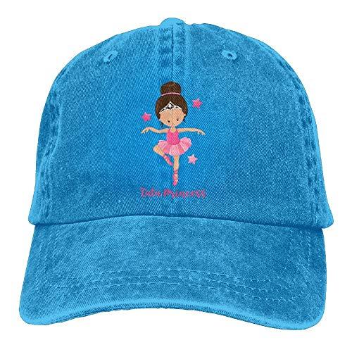 MJDIY Unisex pet, Ballerina Princess denim hoed verstelbaar mannelijk casual baseball cappas