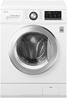 LG 7 Kg 1000 RPM Direct Drive Motor Front Load Washing Machine, White - FH2J3QDNP0, 1 Year Brand Warranty