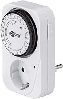 Wentronic 51276 - Temporizador analógico 24 h con enchufe, color blanco [importado de Alemania]