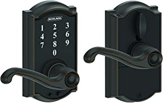 Schlage Touch Camelot Lock with Flair Lever (Aged Bronze) FE695 CAM 716 FLA