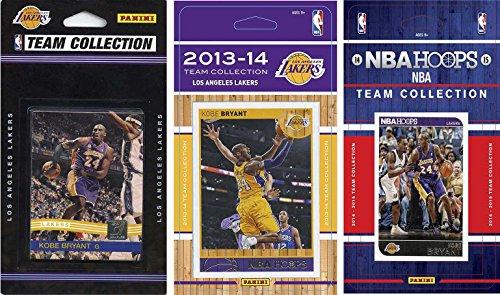 C & I Collectables NBA Los Angeles Lakers 3 Verschiedene lizenzierte Sammelkarten-Team-Sets, Braun, One Size
