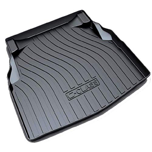 Tailored Car Rubber Boot Mats Rear Cargo Liners Trunk Tray Floor Mat Sheet Carpet for Be-nz GLA/GLC/C-Class/GLE/GLK 2012 to 2021,CClass has net pockets