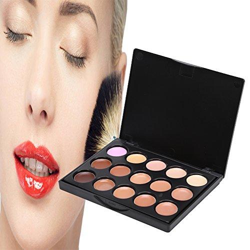 Palette de correcteur, 15 nuances pour couvrir les ombres et les imperfections, correcteur correcteur de cosmétiques naturels, cernes cachés, taches pigmentaires et rougeurs(#2)
