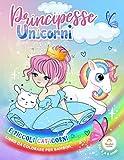 libro da colorare per bambini   Principesse Unicorni e piccoli Caticorni   dai 3 a 8 anni: libri da colorare per bambini dai 3 a 8 anni - più di 100 pagine - album da colorare per bambini PRINCIPESSE