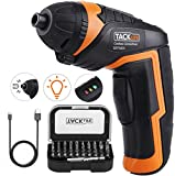 TACKLIFE Cordless Screwdriver, Electric Screwdriver, 4V MAX 2.0Ah Li-ion with Battery...