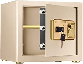 Home Safe Electronic Fingerprint Fire Lock Fireproof Digital Home Combination Box Steel Alloy Drop Safe Safety Box (Color...
