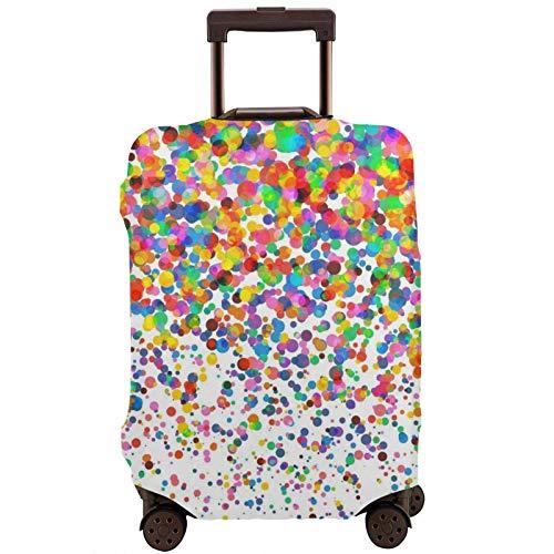 Funda de equipaje de viaje impresa con puntos de colores, funda elástica para maleta, protector de equipaje, se adapta a maletas de 45 a 81 cm