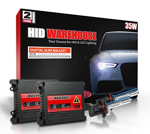 HID-Warehouse 35W Xenon HID Lights with Premium Slim Ballast - 9005 5000K - 5K Bright White - 2 Year Warranty