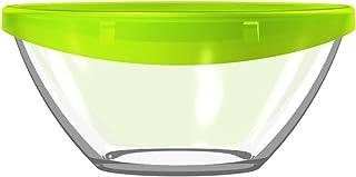 Luminarc G4384 ENSALADERA 17 CM C/Tapa KEEP'N Lagon Lum, Transparente y Verde