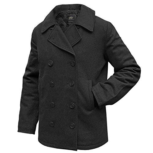 Alpha Industries Pea Coat USN Übergangsjacke Black