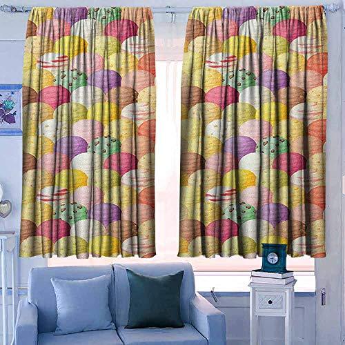 Gordijn Panelen Set van 2 Moderne Boerderij Landgordijnen Ik hou van je Wens uit het universum Oogst Swirls takken Bloemenbladeren Sterren Donker Benzine Blauw Wit