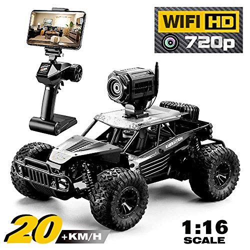 RC Cars for Adult with Wi-Fi Full HD Camera 720P Monitor, FPV HD Real-time Transmittion,1/16 Scale