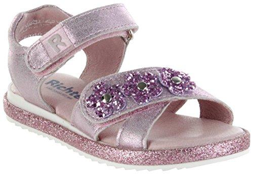 Richter Kinder Sandaletten pink Metallicleder Mädchen Schuhe 5302-341-3110 Candy Romea, Farbe:pink, Größe:25