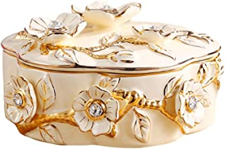 Jewelry Box Decoration, Ceramic Creative Fashion Retro Storage Case, Work Stereoscopic Exquisite, Smooth Surface Shatterproof Moisture Proof Anti-Fading No Added