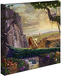 """Thomas Kinkade Studios Disney The Lion King Return to Pride Rock 14"""" x 14"""" Gallery Wrapped Canvas"""