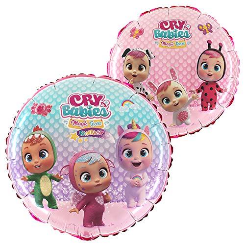 Palloncino in foil Toyland rosa rotondo 18 pollici con personaggi Cry Babies - Decorazioni per feste