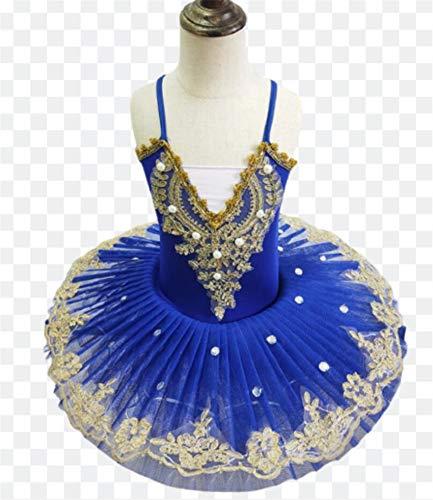ZLYY Profesional Blanco de la Bailarina del tut de Ballet por un nio nios Muchachas de los Cabritos Disfraces Adultos panqueque tut de Danza del Ballet Nias,D,160CM