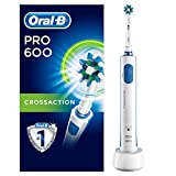 Oral-B Pro 600 Crossaction Spazzolino Elettrico Ricaricabile, ac/battery, 3d effect