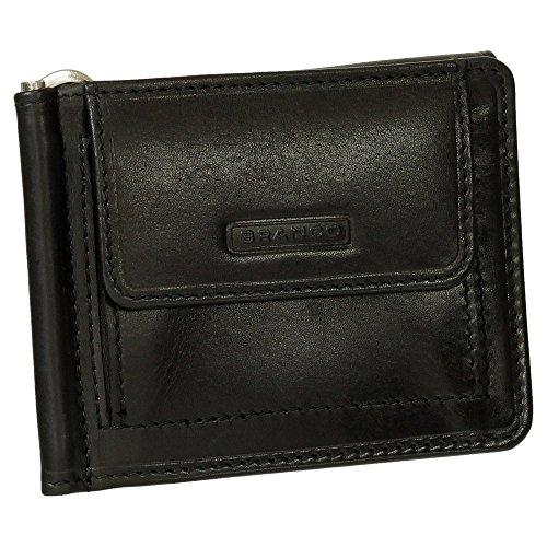 Geldbörse Portemonnaie Geldbeutel mit Dollarclip echt Leder schwarz
