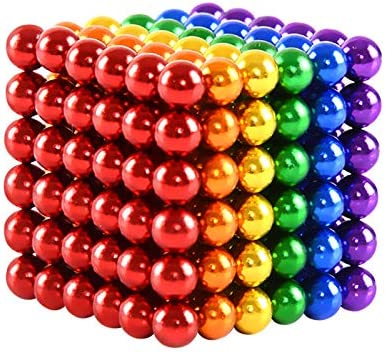 JIAKELOVEYI Rainbow Magnetic Balls 5mm 1000 PCS Fidget Blocks Earth Magnets Toys Office Desk Magnet Beads Magnetic Building Blocks Stress Relief for Adults 1000 Pieces