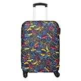 Explore Land Thickened Travel Luggage Cover Washable Suitcase Protector - Fits 23-26 Inch Luggage, Stamp M