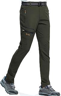 Pantalones Trekking Hombre Impermeable Pantalones de Escalada Senderismo Alpinismo Ligero Secado Rápido Transpirable Aire Libre