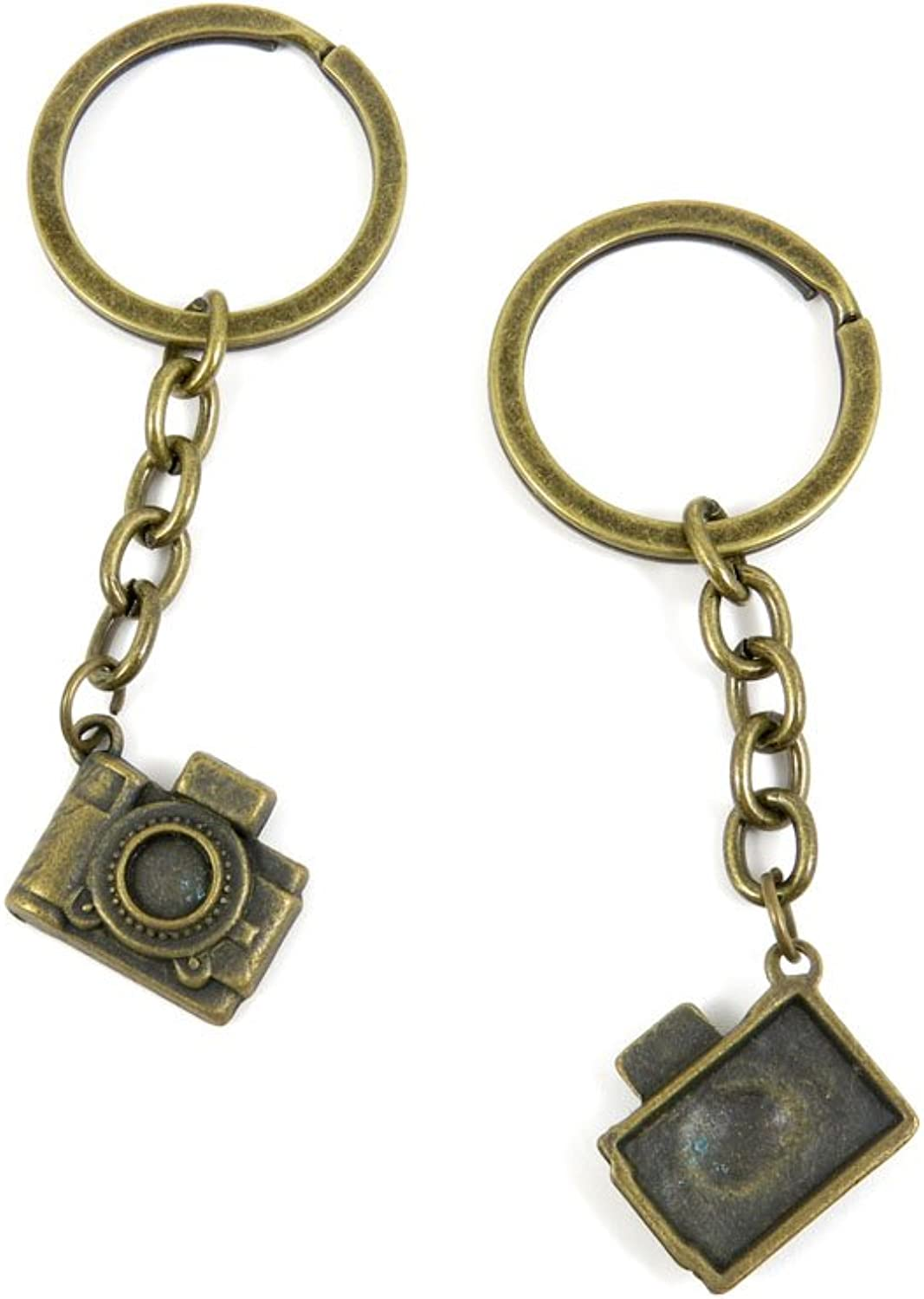 100 PCS Keyrings Keychains Key Ring Chains Tags Jewelry Findings Clasps Buckles Supplies I3GT1 Camera